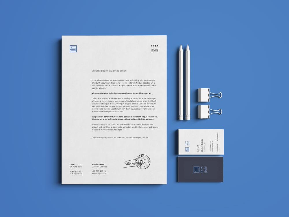 Stationery design SBTC