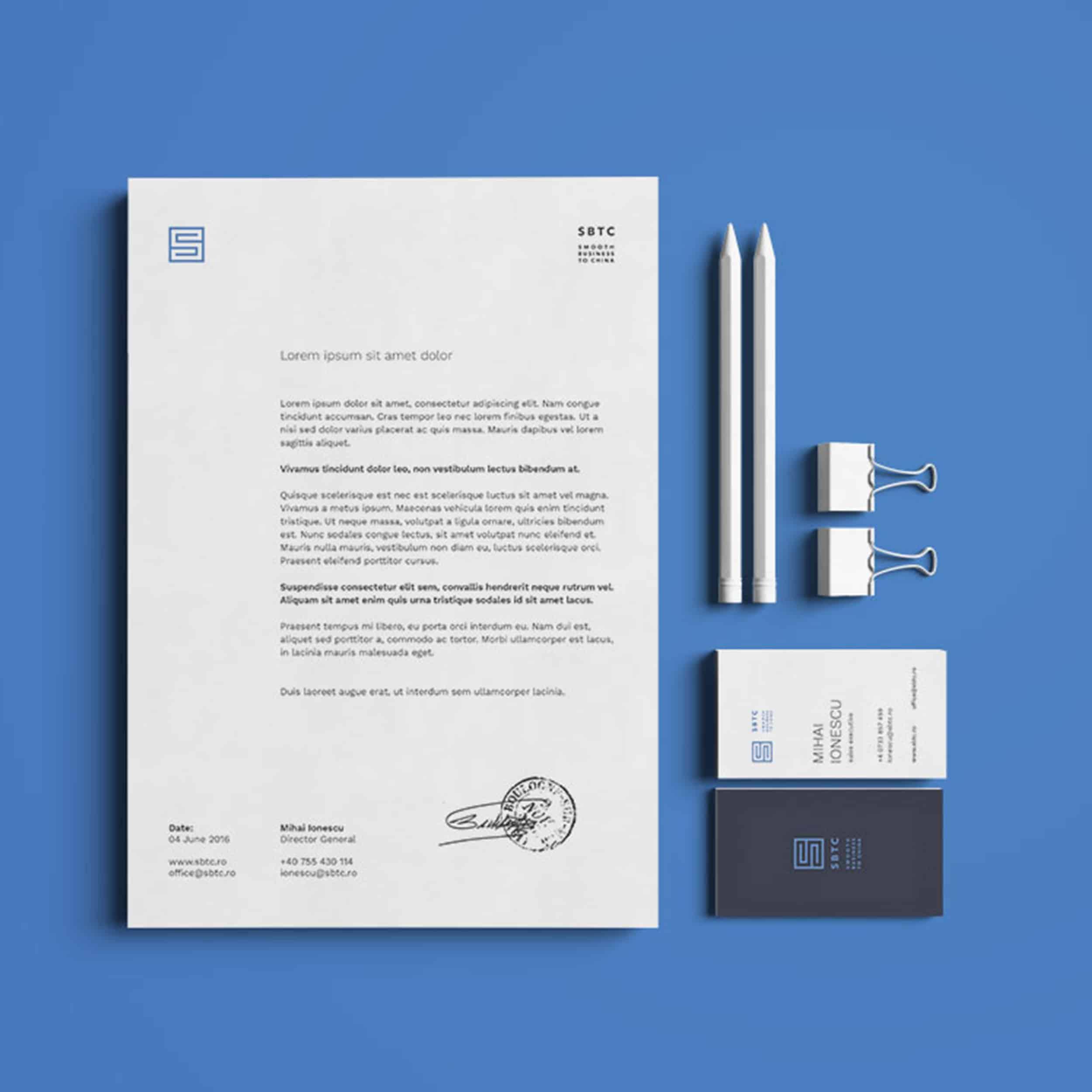 Identitate vizuală, broșură și website pentru SBTC