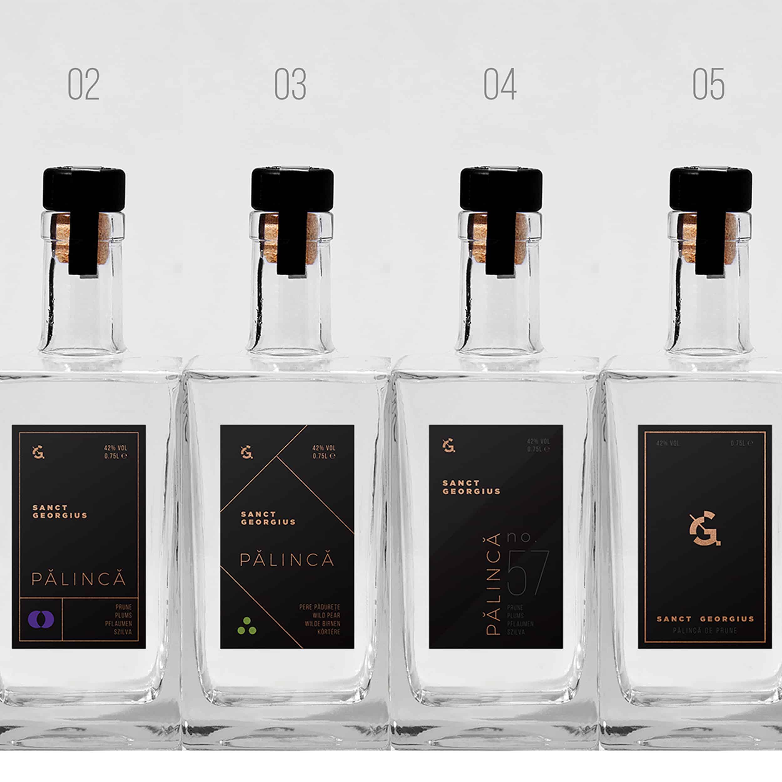 Rebranding și design de etichete Sanct Georgius
