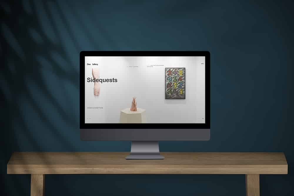 Desktop computer with screen mockup